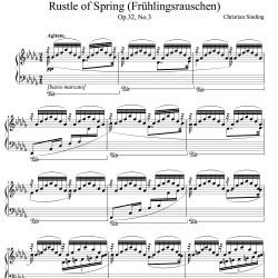 Sinding - Rustle of Spring...