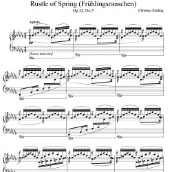 Sinding - Rustle of Spring...