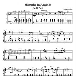 Chopin - Mazurka in A minor...