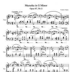 Chopin - Mazurka in G Minor...