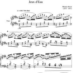 Ravel : Jeux d'eau - 1901...
