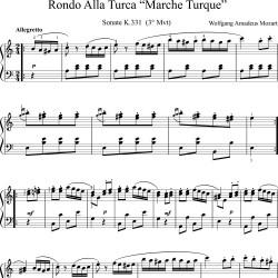 Mozart : Marche Turque -...