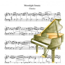 Piano Moonlight Sonata -...